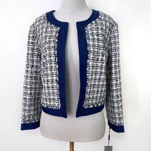 Karl Lagerfeld Paris Tweed Collarless Blazer